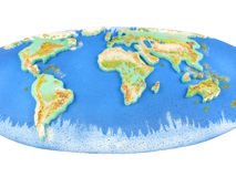World Map. Colorful continents world map over white background Royalty Free Stock Photography