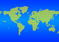 World Map. The background of the blue map of the world royalty free illustration