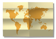 World map. Map of the world paper background royalty free illustration
