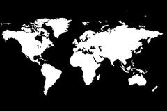 World Map. The world map Royalty Free Stock Photography