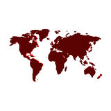 World Map. 3d artwork of world map Royalty Free Stock Photo