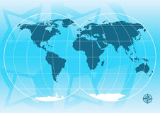 World Map. Vector illustration of a world map Royalty Free Stock Images