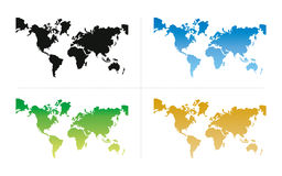 World Map. With all the continents Asia, Africa, America, Australia, Europe
