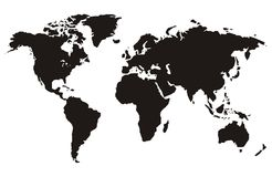 Free World Map Royalty Free Stock Photo - 1352015