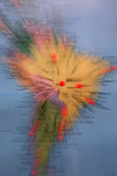 World map. Conceptual picture. World map with some red pins working as tags on countries of South America Stock Images
