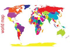 World map in Stock Photo
