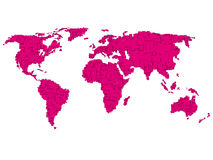 World map. A map of the world Stock Images