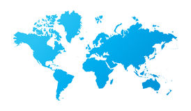 World map. Beautiful illustration of world map on white background Royalty Free Stock Photos
