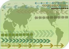 World map. On green background Royalty Free Stock Photography