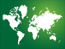World map. Illustration of world map on green background Royalty Free Stock Photo