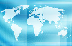 World map. Computer designed abstract world map background Stock Image