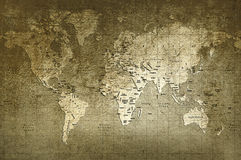 World map. Old world map with great texture and amazing colors Stock Images