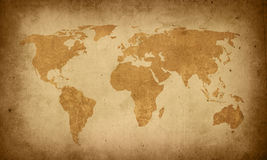 World map. Vintage artwork - perfect background with space for text or image Royalty Free Stock Photography