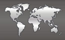 World Map. The Map of the World Royalty Free Stock Photography