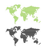 World map. Vector illustration of world map in lines Stock Photos