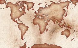 World Map Royalty Free Stock Images