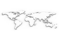 World Map. A World Map in 3D Royalty Free Stock Photography