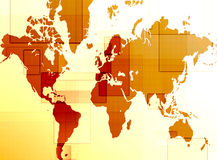 World map. Computer designed abstract background - world map Stock Photos