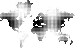 World map. Consists of dots royalty free illustration