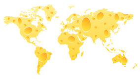 World map. Made of cheese Royalty Free Illustration