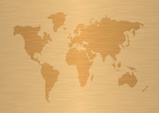 World map #2. Map of the world - world illustration - brushed metal royalty free illustration
