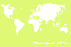 World Map 2. World Map With Clipping Path Included Stock Image