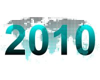 World map 2010. In turquoise Stock Photos