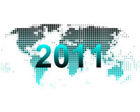World map 2011 Royalty Free Stock Photos