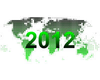 World map 2012. Detailed and accurate illustration of world map 2012 Stock Images