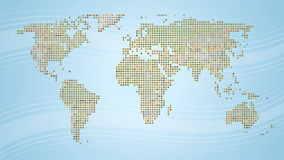 World Map. A raster effect illustration of the world Royalty Free Stock Images