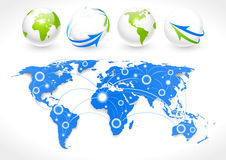 World map. Vector illustration world map. Concept communication stock illustration