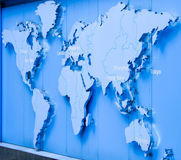 World Map. Map shows capital cities of the world Stock Photos