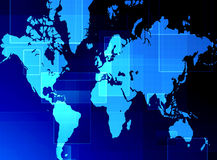 World map. Computer designed abstract world map background Stock Photography