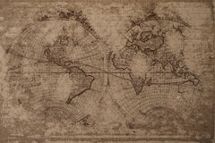 World map. Old world map with great texture and amazing colors Stock Photography