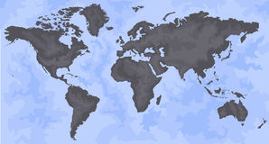 World Map. Map of the world - world vector illustration - vector world map Stock Photography