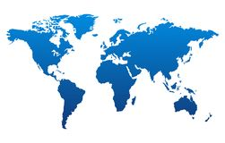 World map stock illustration