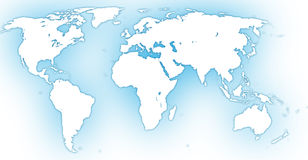 World map. The stylized vector image map of the world Royalty Free Stock Images