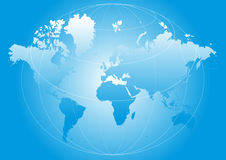World map. Illustration with grids - vector Royalty Free Stock Image