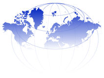World map. Illustration with grids - vector Royalty Free Stock Photo