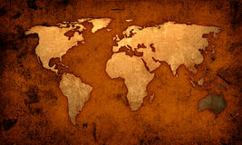 Free World Map Royalty Free Stock Photos - 2836518