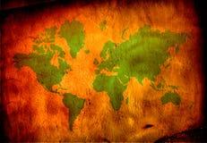 World map. Antiqued warm toned world map royalty free stock photo