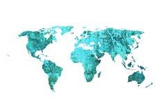 World map. Aged world map-vintage artwork Royalty Free Stock Photo