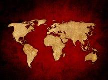 World map. Aged world map-vintage artwork Royalty Free Stock Image