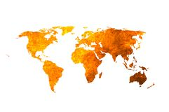 World map. Aged world map-vintage artwork Stock Photos