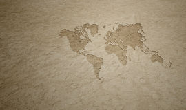 Beach World Map Royalty Free Stock Photos