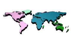 World map 3 d Royalty Free Stock Photos