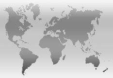 World Map. In gray Royalty Free Stock Image