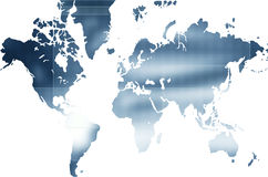 World map. Computer designed world map business background Stock Image