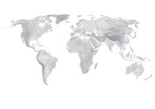 World map. Old Map of the world - world illustration isolated Royalty Free Stock Photos