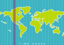 World map. Time zones in vector Royalty Free Stock Photos